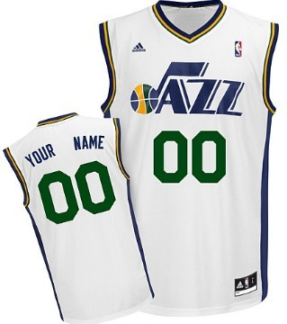 Mens Utah Jazz Customized White Jersey