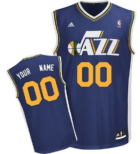 Kids Utah Jazz Customized Blue Jersey