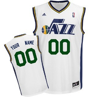 Kids Utah Jazz Customized White Jersey
