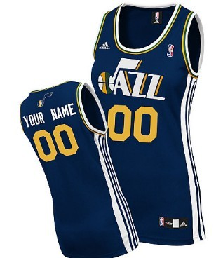 Womens Utah Jazz Customized Blue Jersey