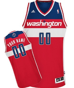 Mens Washington Wizards Customized Red Jersey
