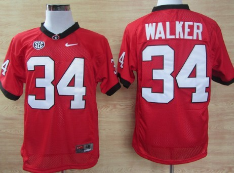 Georgia Bulldogs #34 Herschel Walker Red Jersey