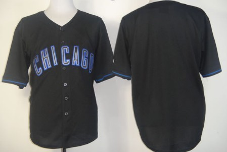Kids' Chicago Cubs Customized 2012 Black Fashion Jersey