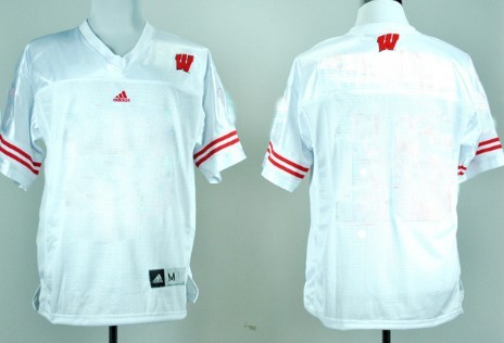 Kids' Wisconsin Badgers Customized White Jersey