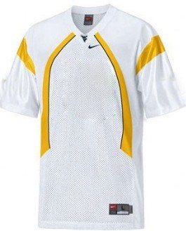 Men's West Virginia Mountaineers Customized White Jersey