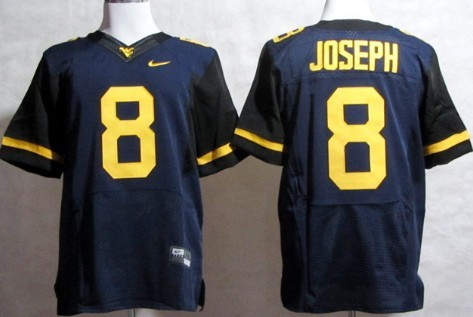 West Virginia Mountaineers #8 Karl Joseph 2013 Navy Blue Elite Jersey
