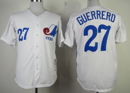 Montreal Expos #27 Vladimir Guerrero 1982 White Throwback Jersey