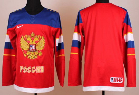 2014 Olympics Russia Mens Customized Red Jersey