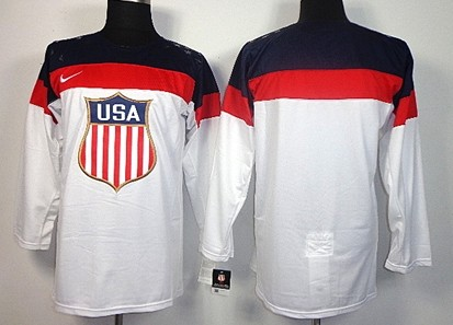 2014 Olympics USA Mens Customized White Jersey