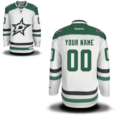 Dallas Stars Mens Customized 2013 White Jersey