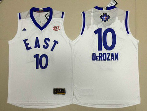 2015-16 NBA Eastern All-Stars #10 Demar DeRozan Revolution 30 Swingman White Jersey