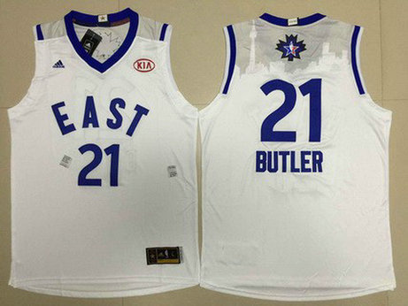 2015-16 NBA Eastern All-Stars #21 Jimmy Butler Revolution 30 Swingman White Jersey