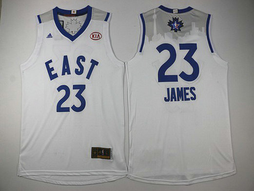 2015-16 NBA Eastern All-Stars #23 LeBron James Revolution 30 Swingman White Jersey