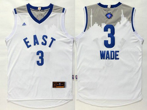 2015-16 NBA Eastern All-Stars Men's #3 Dwyane Wade Revolution 30 Swingman White Jersey