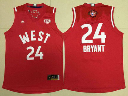 2015-16 NBA Western All-Stars #24 Kobe Bryant Revolution 30 Swingman Red Jersey