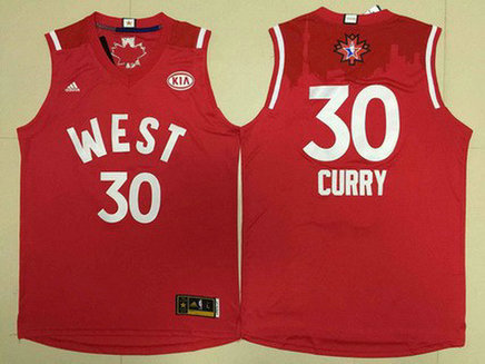 2015-16 NBA Western All-Stars #30 Stephen Curry Revolution 30 Swingman Red Jersey