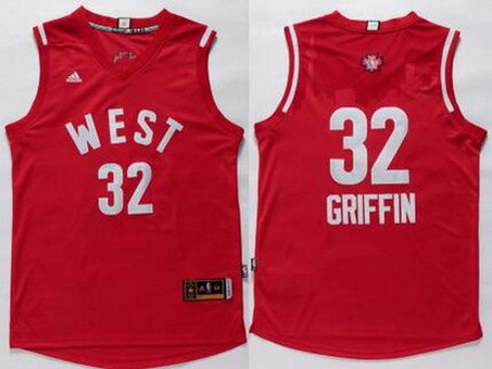 2015-16 NBA Western All-Stars Men's #32 Blake Griffin Revolution 30 Swingman Red Jersey