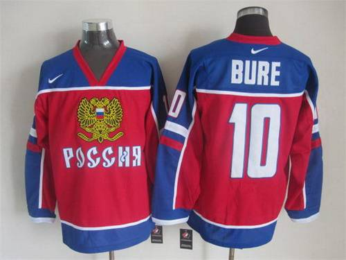 2015 Men's Team Russia #10 Pavel Bure Red Jersey