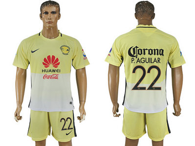 2016-17 Club America 22 P.AGUILAR Home Soccer Jersey