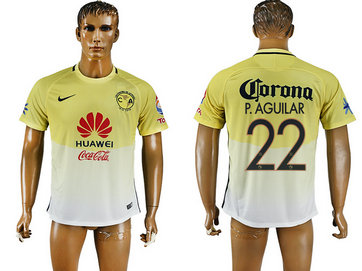2016-17 Club America 22 P.AGUILAR Home Thailand Soccer Jersey