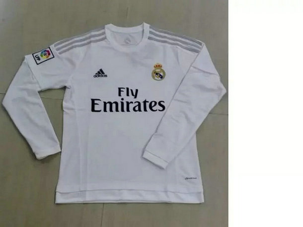 2016-2017 Real Madrid Home White Long Sleeves Thailand Soccer Jersey