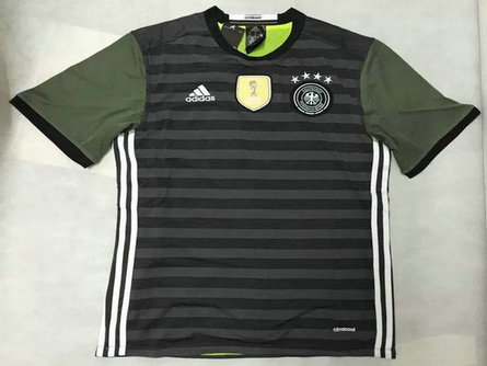 2016 Germany Away Black Thailand Soccer Jersey
