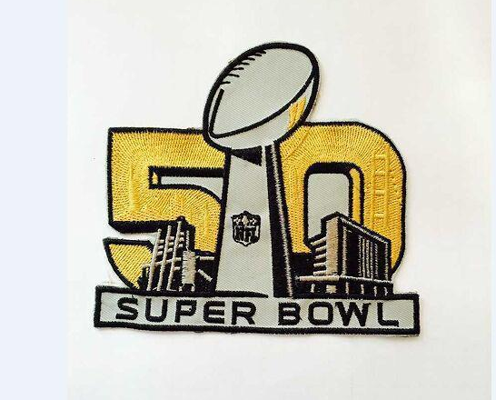 2016 SUPER BOWL 50TH Patch