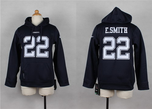 Nike Dallas Cowboys #22 Emmitt Smith Blue Kids Hoodie