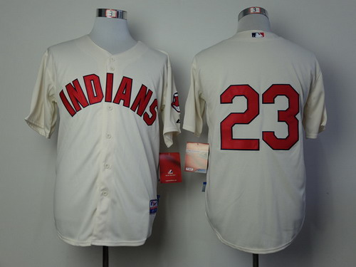 Cleveland Indians #23 Michael Brantley Cream Jersey
