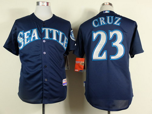Seattle Mariners #23 Nelson Cruz 2014 Navy Blue Jersey