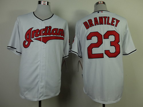 Cleveland Indians #23 Michael Brantley 2013 White Jersey