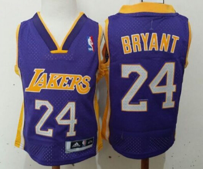 Los Angeles Lakers #24 Kobe Bryant Purple Toddlers Jersey