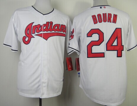 Cleveland Indians #24 Michael Bourn 2013 White Jersey