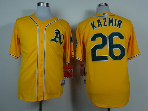 Oakland Athletics #26 Scott Kazmir Yellow Jersey