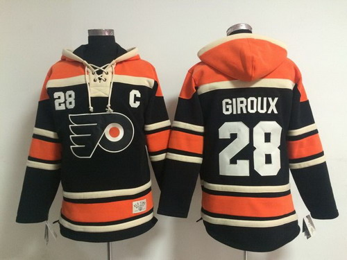Old Time Hockey Philadelphia Flyers #28 Claude Giroux Black Hoodie