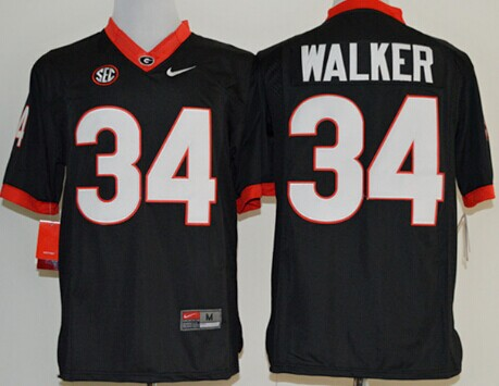 Georgia Bulldogs #34 Herschel Walker 2014 Black Limited Jersey