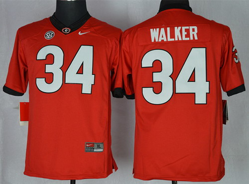 Georgia Bulldogs #34 Herschel Walker 2014 Red Limited Jersey