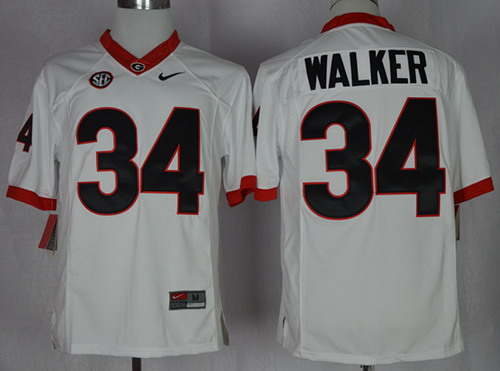 Georgia Bulldogs #34 Herschel Walker 2014 White Limited Jersey