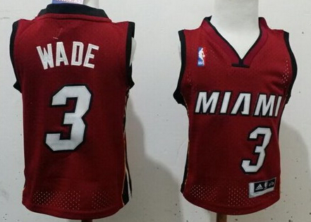 Miami Heat #3 Dwyane Wade Red Toddlers Jersey