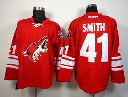 Phoenix Coyotes #41 Mike Smith Red Jersey