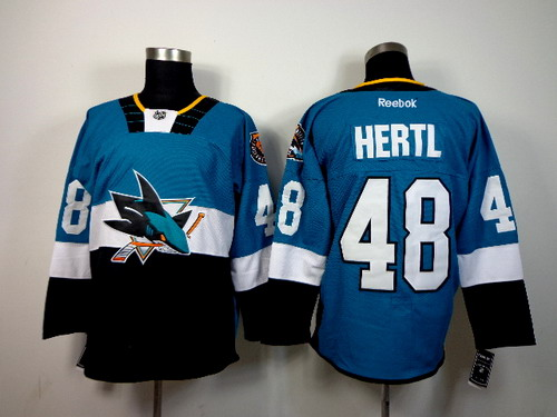 San Jose Sharks #48 Tomas Hertl 2015 Stadium Series Blue/Black Jersey