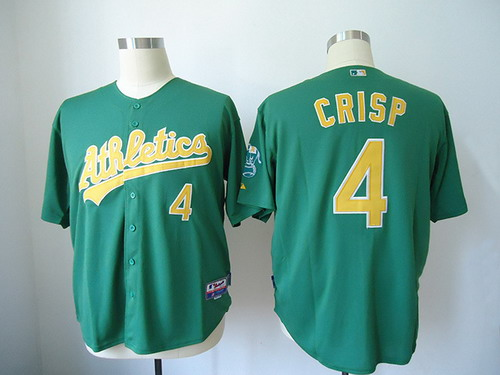 Oakland Athletics #4 Coco Crisp Green Jersey