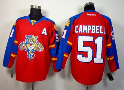 Florida Panthers #51 Brian Campbell Red Jersey