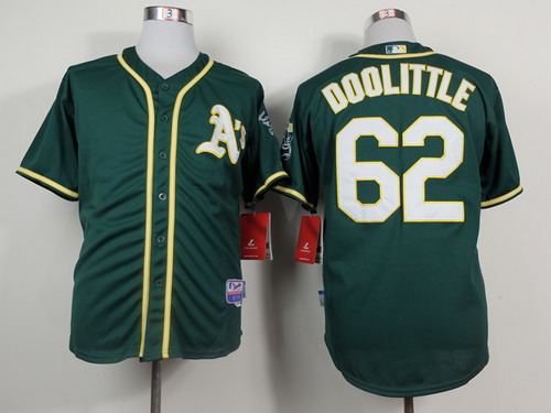 Oakland Athletics #62 Sean Doolittle 2014 Dark Green Jersey