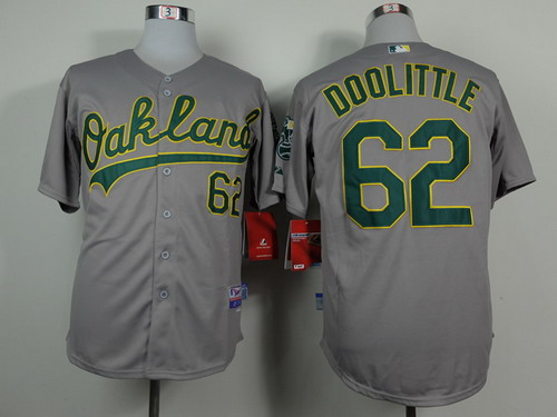 Oakland Athletics #62 Sean Doolittle Gray Jersey