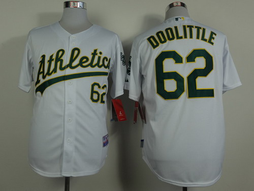 Oakland Athletics #62 Sean Doolittle White Jersey