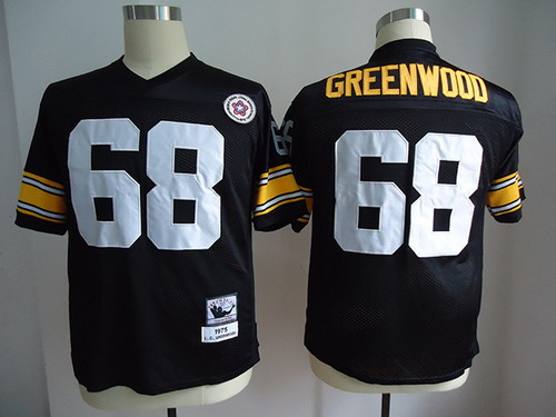 Pittsburgh Steelers #68 L.C. Greenwood Black Throwback Jersey