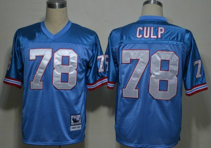 Houston Oilers #78 Cuyley Culp Light Blue Throwback Jersey