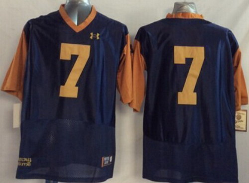 Notre Dame Fighting Irish #7 William Fuller 2014 Blue With Yellow Jersey