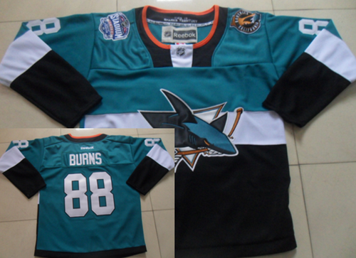 San Jose Sharks #88 Brent Burns 2015 Stadium Series Blue/Black Jersey